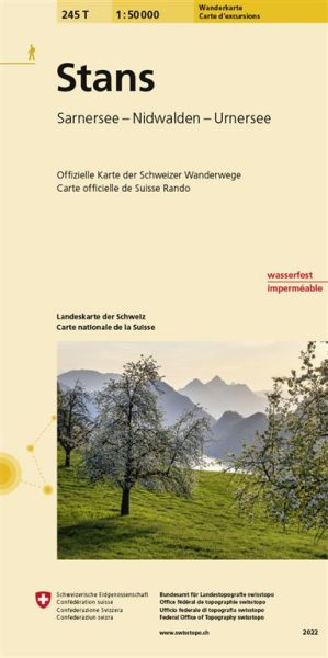 245 T Stans Wanderkarte 1:50.000 - Swisstopo