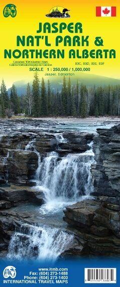 Jasper National Park & Nord Alberta Landkarte, ITM