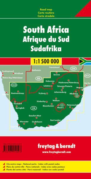 Südafrika, Straßenkarte 1:1.500.000, Freytag und Berndt