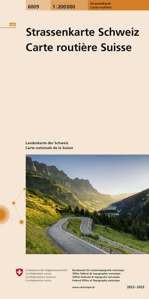 6009 Straßenkarte der Schweiz 1:200.000 doppelseitig bedruckt