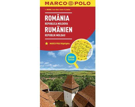 Rumänien Landkarte 1:800.000 - Marco Polo