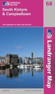 Landranger 68 South Kintyre & Campbeltown Wanderkarte 1:50.000 - OS / Ordnance Survey