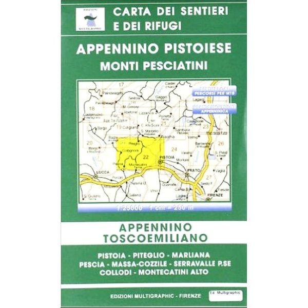 Edition Multigraphic, Appennino Pistoiese e Monti Pesciatini Blatt 22, 1:25.000