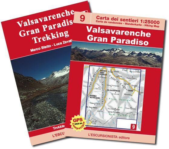 Valsavarenche, topographische Wanderkarte 1:25.000 L'Escursionista editore Bl.9