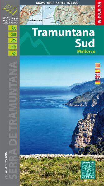 Mallorca: Tramuntana Süd Wanderkarte 1:25.000 - Editorial Alpina