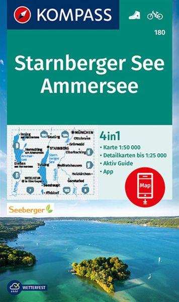 Kompass Karte 180, Starnberger See, Ammersee 1:50.000, Wandern, Rad fahren