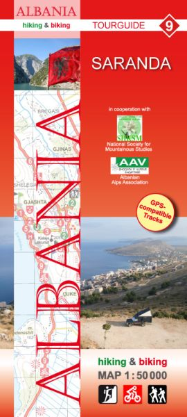 9 Saranda: Albanien Wander- und Radwanderkarte 1:50.000