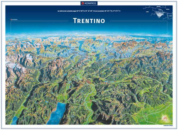 Kompass Panorama Trentino Poster