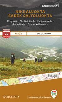 Nikkaluokta - Sarek - Saltoluokta, Outdoorkartan Blatt 2, Schweden Wanderkarte 1:75.000