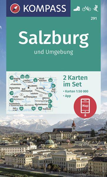 Kompass Karten Set 291, Rund um Salzburg 1:50.000, Wandern