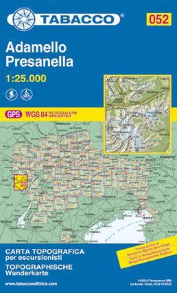 Tabacco 052 Adamello - Presanella Wanderkarte 1:25.000