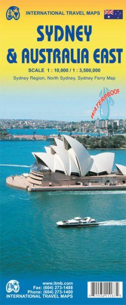 Sydney 1:10.000 & Ost Australien 1:3.500.000 Landkarte, ITM