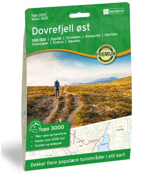 Dovrefjell ost topographische Wanderkarte 1:50.000 Bl. 3020 - Nordeca Topo 3000