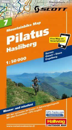 Hallwag Mountainbike Map Bl.7, Pilatus, Hasliberg, 1:50.000, Wasser- und reißfest