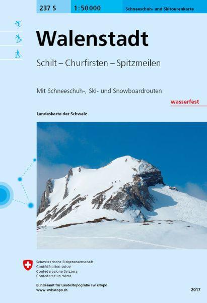 237 S Walenstadt topographische Skitourenkarte 1:50.000