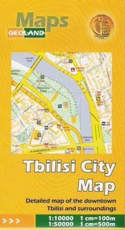 Tiflis / Tbilisi (Georgien) Stadtplan 1:10.000 mit Umgebungskarte 1:50.000