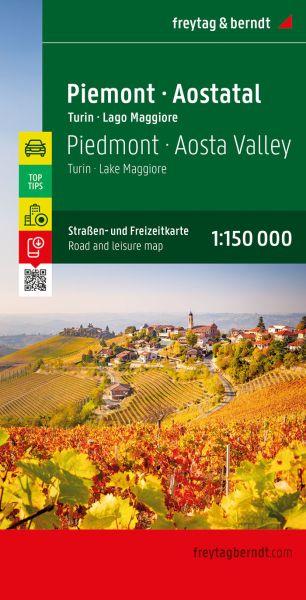 Piemont - Turin Straßenkarte 1:150.000, Freytag und Berndt