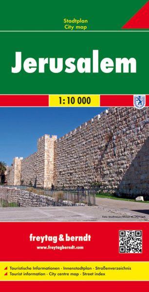 Jerusalem, Stadtplan 1:10.000, Freytag und Berndt