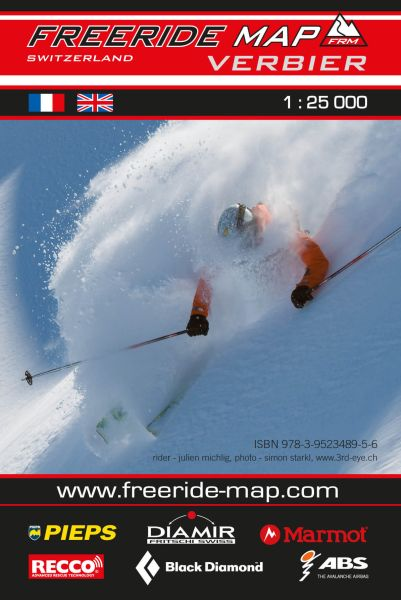 Freeride Map Verbier, Skitourenkarte 1:25.000