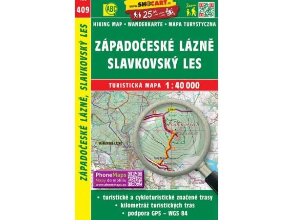 Westböhmische Heilbäder Wanderkarte 1:40.000 - SHOCart 409