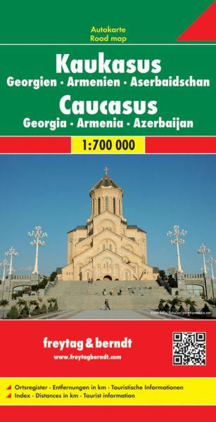 Kaukasus, Georgien, Armenien, Straßenkarte 1:700.000, Freytag und Berndt