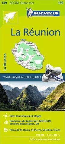 Michelin 139: La Réunion Straßenkarte 1:80.000