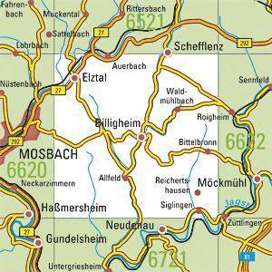 6621 BILLIGHEIM topographische Karte 1:25.000 Baden-Württemberg, TK25