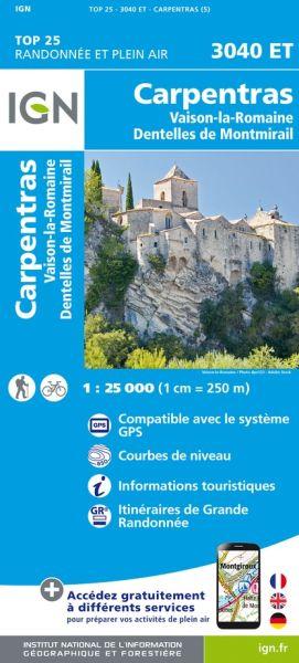 IGN 3040 ET Carpentras, Vaison-la-Romaine, Frankreich Wanderkarte 1:25.000