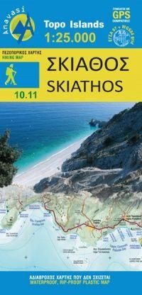Skiathos Wanderkarte 1:25.000, Anavasi 10.11, Griechenland, wetterfest