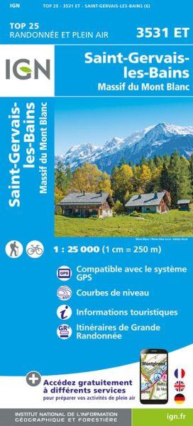 IGN 3531 ET Saint-Gervais-les-Bains, Frankreich Wanderkarte 1:25.000