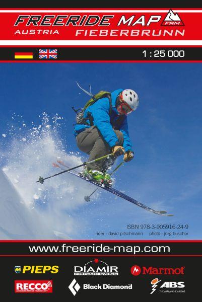 Freeride Map Fieberbrunn, Skitourenkarte 1:25.000