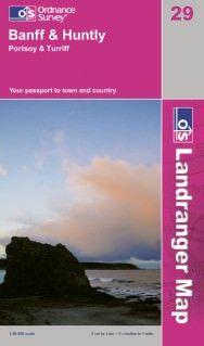 Landranger 29 Banff & Huntly, Portsoy & Turriff Wanderkarte 1:50.000 - OS / Ordnance Survey