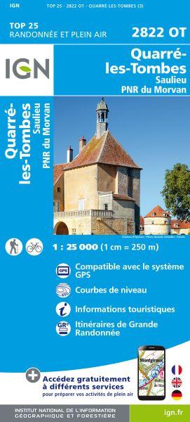 IGN 2822 OT Quarre-les-Tombes, Saulieu, Frankreich Wanderkarte 1:25.000