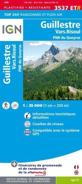 IGN 3537 ETR Guillestre / Vars Risoul / PNR du Queyras, Frankreich reiß- und wasserfeste Wanderkarte