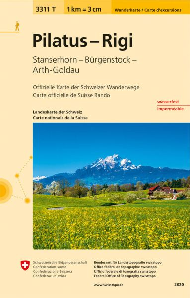 3311 T Pilatus - Rigi Wanderkarte 1:33.333 wetterfest - Swisstopo