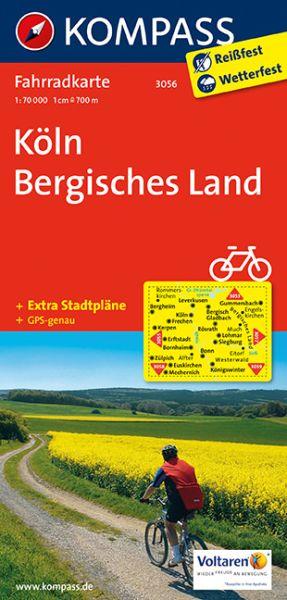 Kompass Fahrradkarte Blatt 3056, Köln - Bergisches Land 1:70.000