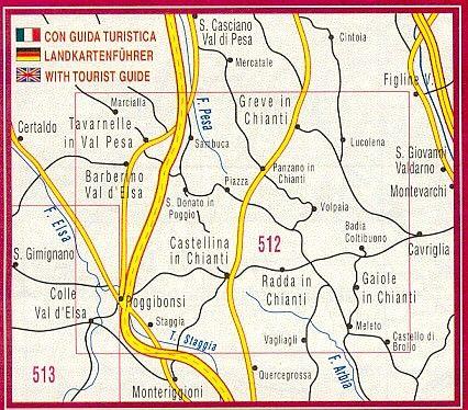 Edition Multigraphic, Chianti Classico Blatt 512, Toskana, 1:25.000