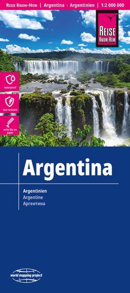 Argentinien Landkarte 1:2.000.000, Reise Know-How