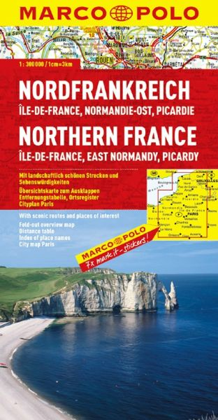 Nordfrankreich / Ile-de-France Straßenkarte 1:300.000, Marco Polo