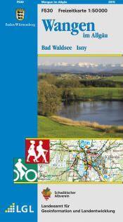 Wangen im Allgäu Freizeitkarte in 1:50.000 - F530 mit Rad- und Wanderwegen