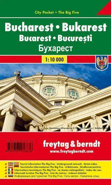 Bukarest, Stadtplan 1:15.000, Freytag und Berndt