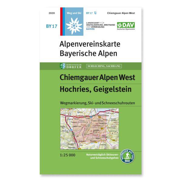 Alpenvereinskarte BY17 Chiemgauer Alpen West Wanderkarte 1:25.000