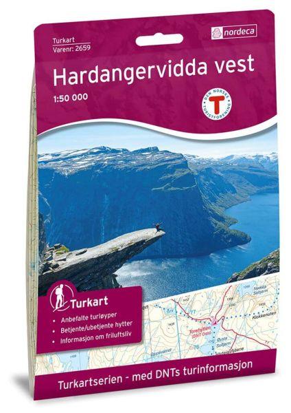 Hardangervidda West / Vest Wanderkarte 1:50.000 – Norwegen, Turkart 2659 von Nordeca