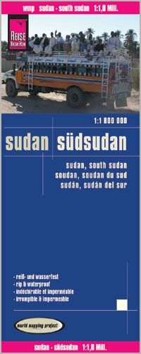 Sudan, Südsudan Landkarte 1:1.800.000, Reise Know-How