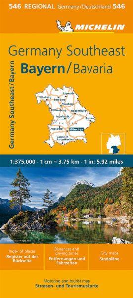 Michelin 546 Bayern Straßenkarte