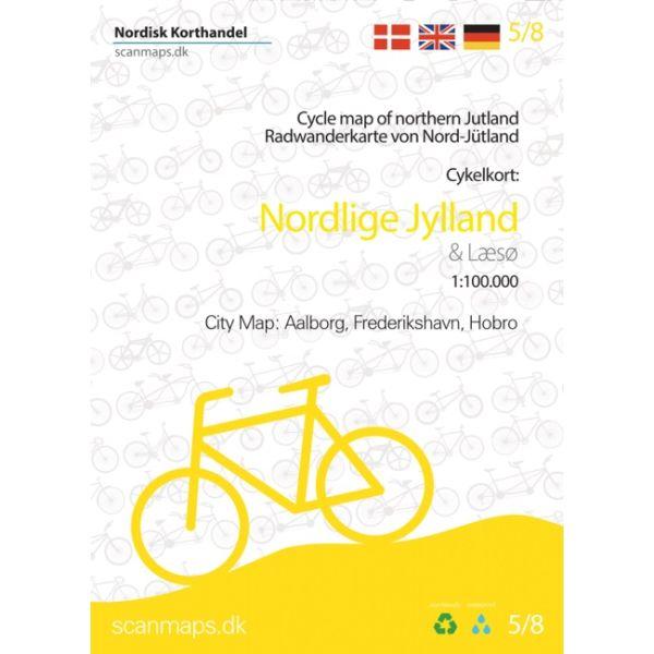 Nord-Jütland Radwanderkarte (Dänemark) 1:100.000 Bl. 5/8 Nordisk Korthandel