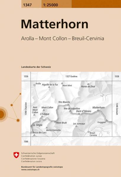 1347 Matterhorn topographische Karte Schweiz 1:25.000