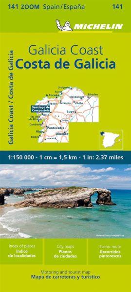 Michelin zoom 141 Costa de Galicia/Galicische Küste Straßenkarte 1:150.000