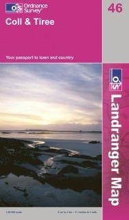 Landranger 46 Coll & Tiree, Großbritannien Wanderkarte 1:50.000