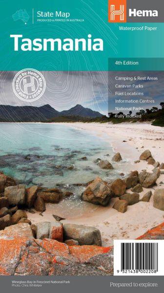 HEMA State map Tasmania / Tasmanien Straßenkarte 1:480.000